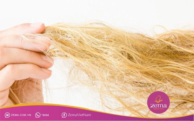 Mái tóc hư tổn không nên nhuộm tóc highlight