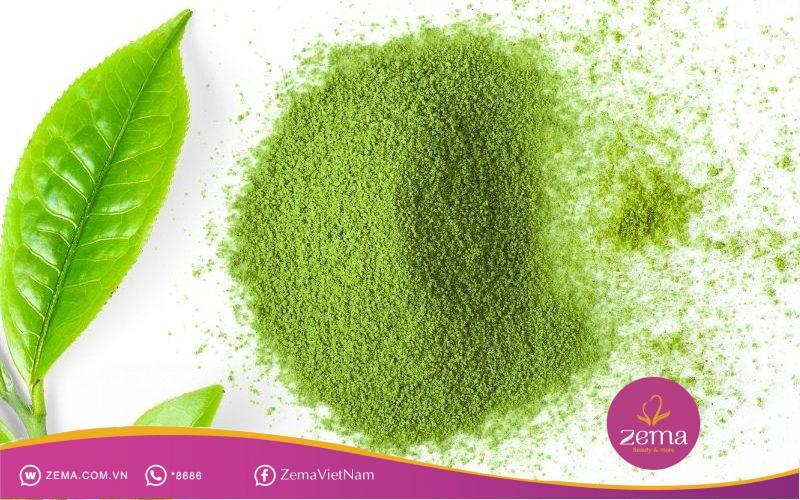 Bột trà xanh thường được dùng để trị mụn ẩn
