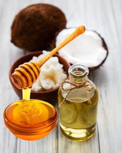 Cách trị mụn thịt quanh mắt tại nhà bằng mật ong kết hợp với dầu dừa