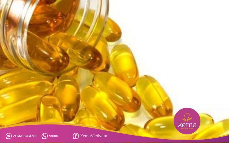 Dưỡng da căng mịn bằng vitamin E