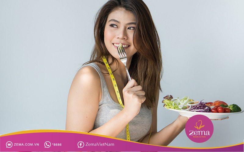 Tập luyện nên kết hợp với chế độ ăn uống lành mạnh