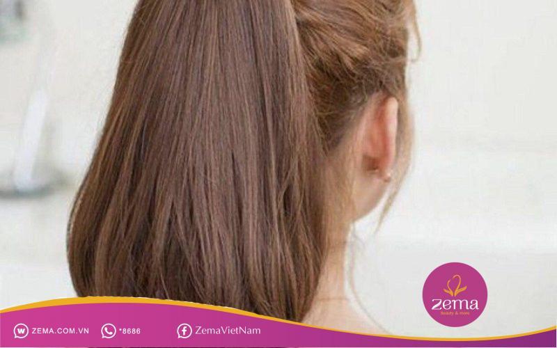 Kiểu tóc uốn cụp đuôi nhẹ nhàng