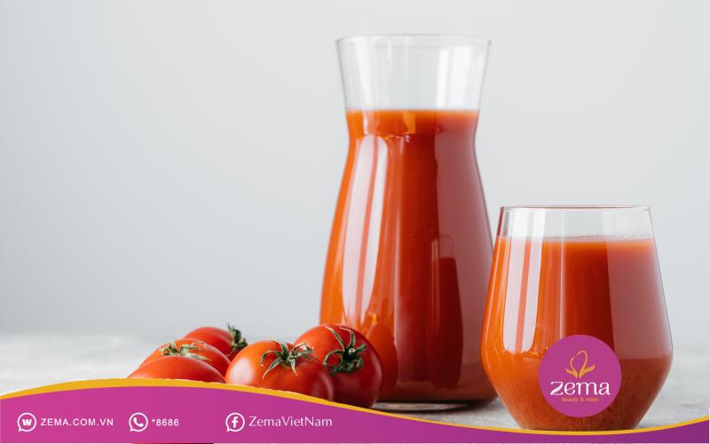 Sinh tố cà chua giúp giảm cân hiệu quả