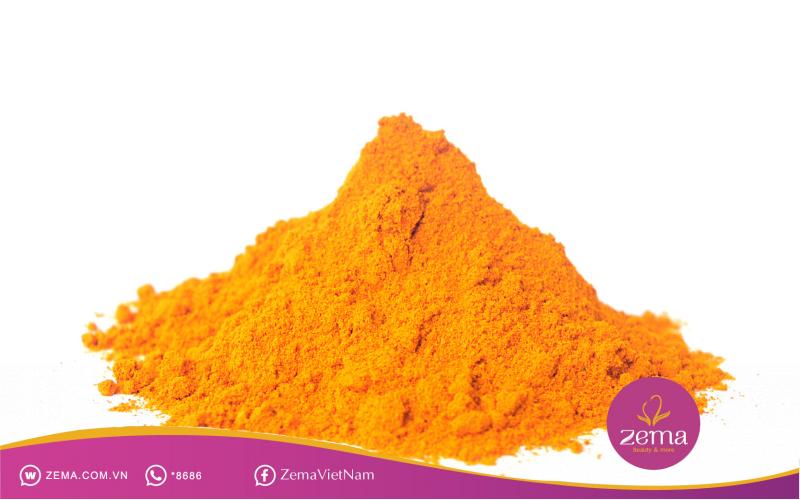 Nghệ kết hợp với vitamin e giúp dưỡng da mặt từ sâu bên trong