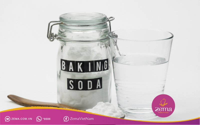 Baking soda giúp tẩy sơn móng tay hiệu quả và an toàn