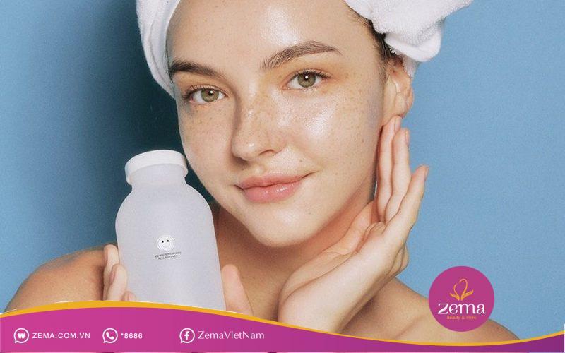 Sử dụng toner sau khi rửa mặt
