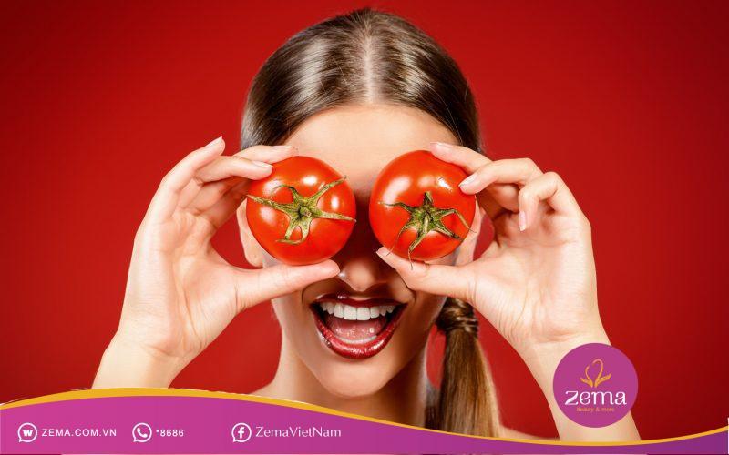 Cách trị mụn bằng cà chua
