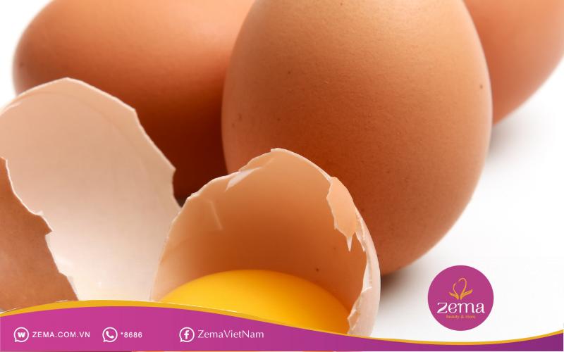 Trứng gà cung cấp nhiều dưỡng chất cho sức khỏe da mặt