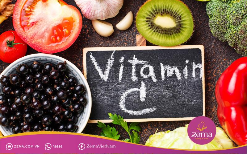 Các chất chứa vitamin c giúp giảm nám