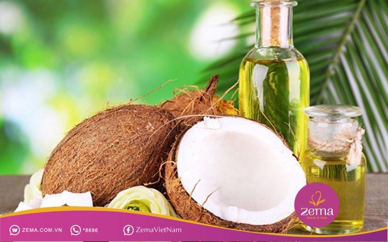 Dầu dừa là một trong những cách trị mụn thâm nhanh nhất bằng nguyên liệu thiên nhiên