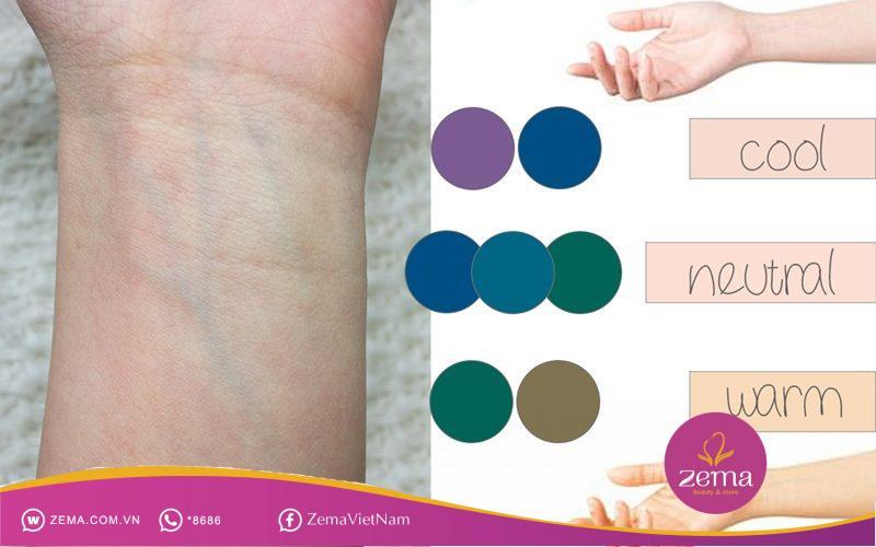 Cách xác định tone màu da của mình