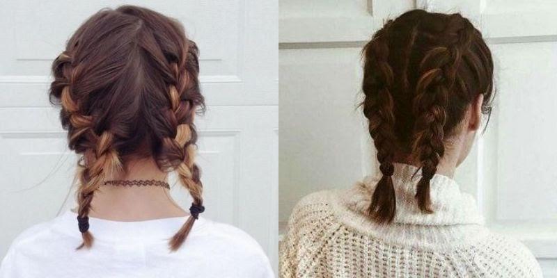 Kiểu tóc tết hai bên dành cho những cô nàng nữ tính