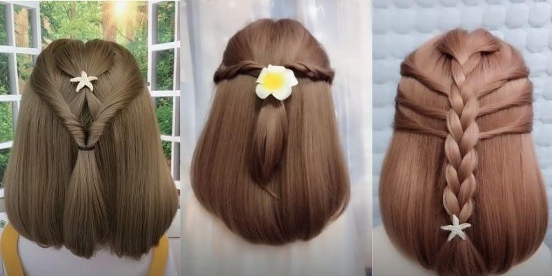 Cách tết tóc ngang vai