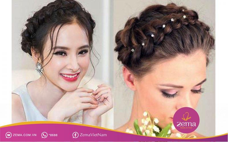 Kiểu tóc bện cô tấm thích hợp cho tiệc cưới