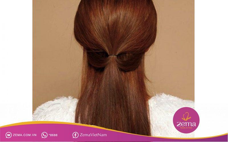Kiểu tóc buộc nữa đầu đơn giản thích hợp cho tiệc cưới