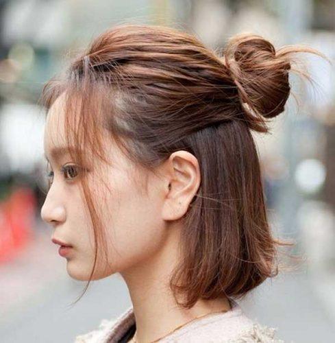 Kiểu tóc búi cao