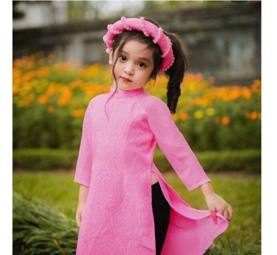 Kiểu tóc diện áo dài cho các bé gái xinh xắn