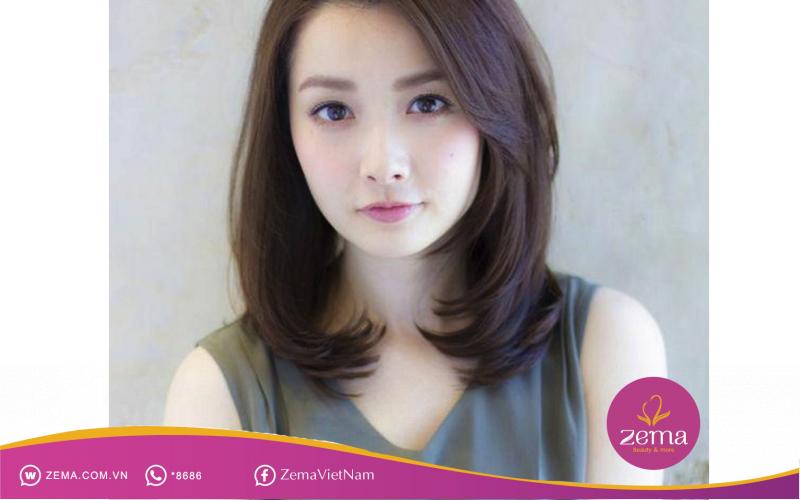 Kiểu tóc uốn đuôi ngang vai cho tuổi 30