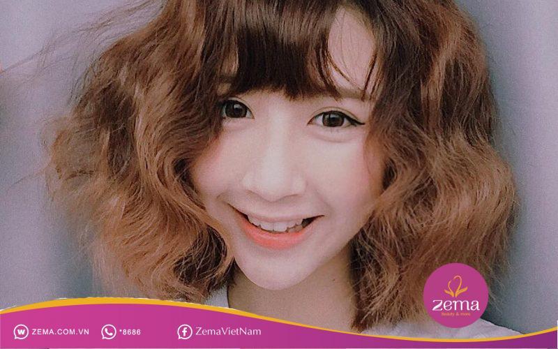Kiểu tóc ngắn bồng bềnh xù đũa lạ mắt cho nàng tóc mỏng