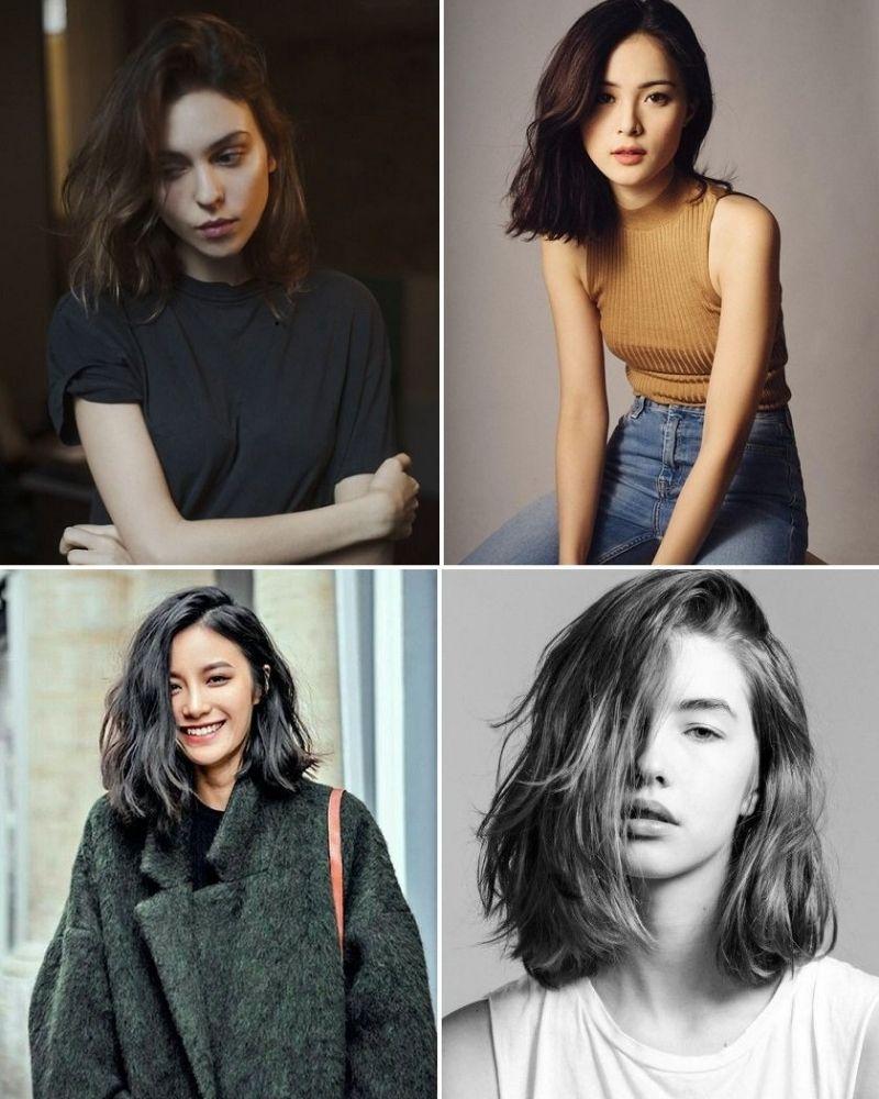 Kiểu tóc nữ ngang vai mái dài thịnh thành nhất