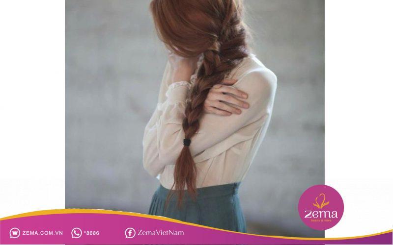 Kiểu tóc tết đuôi sam thích hợp cho đám cưới