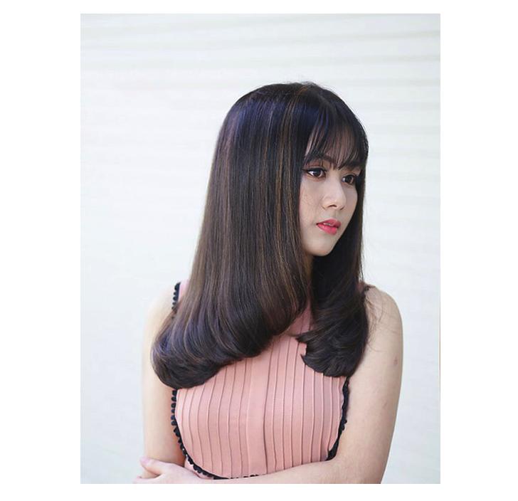 Kiểu tóc uốn cúp 2 tầng mái ngố