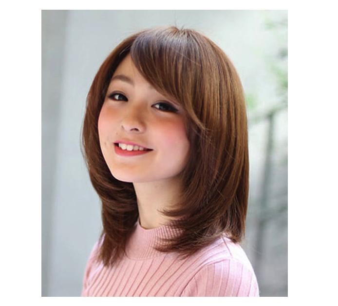 Kiểu tóc uốn cúp kết hợp mái xéo