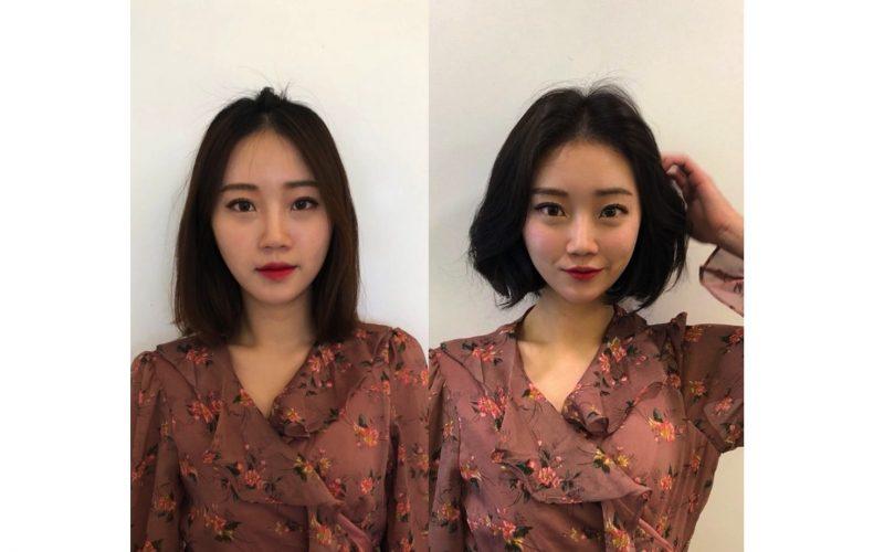 Kiểu tóc uốn ngắn gợn sóng nhẹ