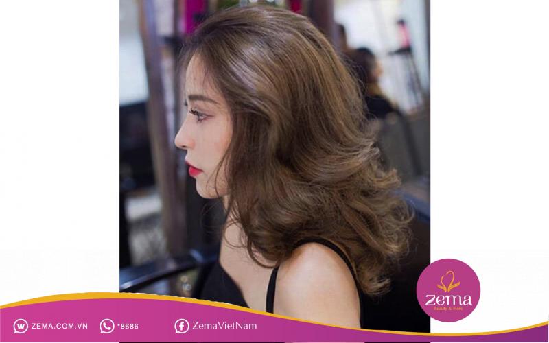 Kiểu tóc xoăn nhiều tầng