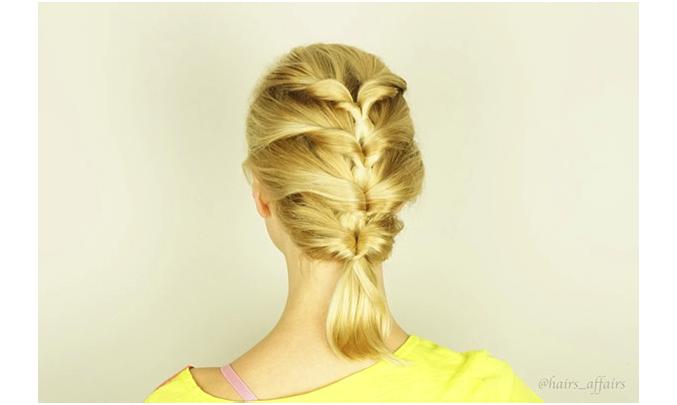 Kiểu tóc tết nhiều tầng