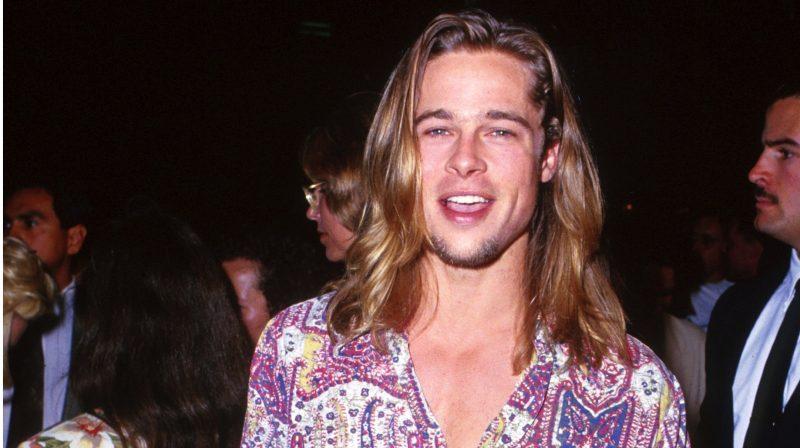 Ngôi sao Hollywood Brad Pitt với tóc dài lãng tử