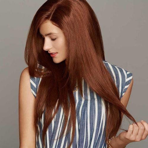 Màu tóc nâu ánh đồng
