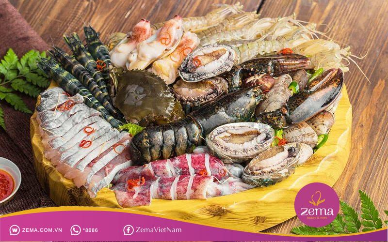 Hải sản luôn là món ăn ngon nhưng tạm thời loại bỏ sau khi nặn mụn để tốt cho da