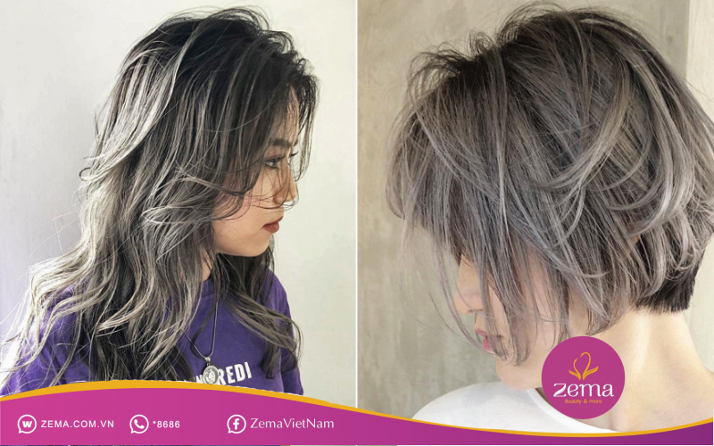 Cá tính hơn với tóc nhuộm màu khói bạc