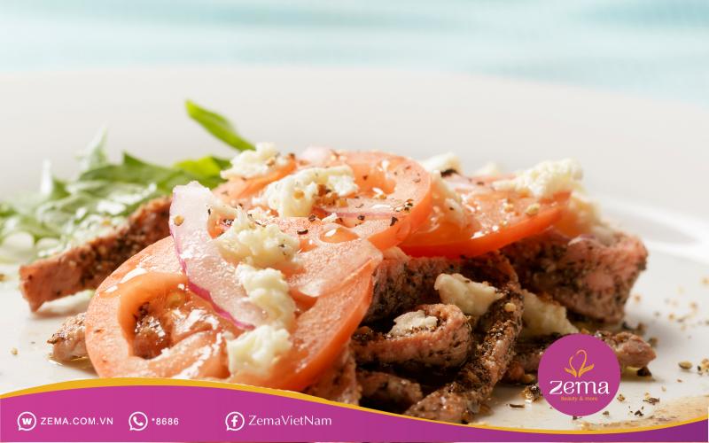 Thịt bò với cà chua cung cấp dinh dưỡng khi giảm cân