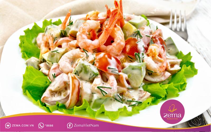 Salad tôm giúp giảm cân