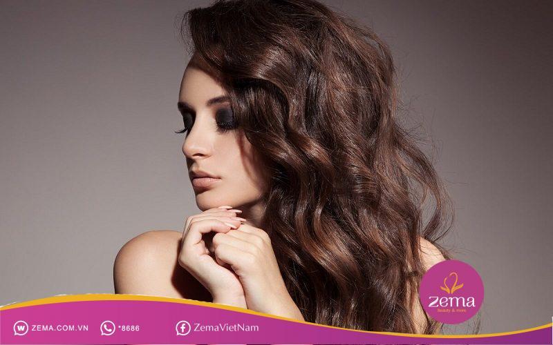 Kiểu tóc xoăn gợn sóng hoàn toàn có thể tạo kiểu bằng máy sấy