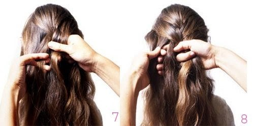 Bổ sung phần tóc hai bên trong quá trình tết