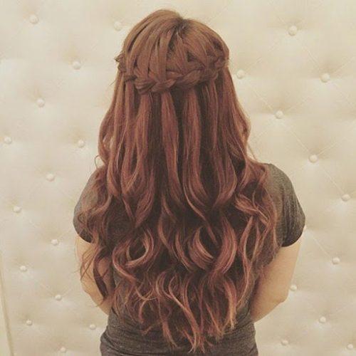 Tết tóc thác nước đơn giản và dễ thực hiện