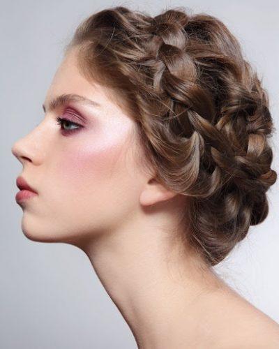 Kiểu tết tóc vương miện xinh đẹp