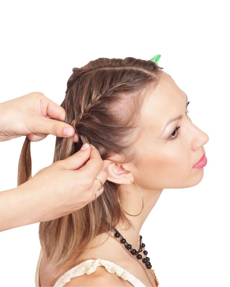 Kiểu tết tóc hàn quốc dễ thương: tết tóc mái