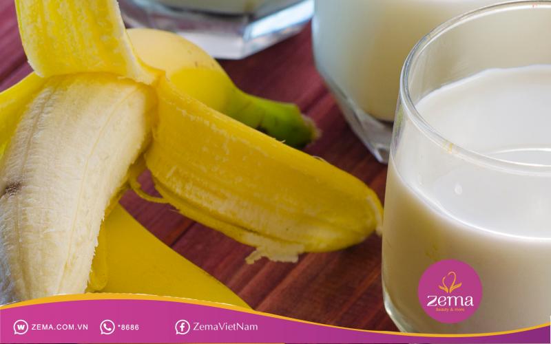 Chuối và sữa rất tốt cho quá trình giảm cân nhanh