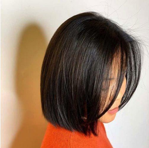 Kiểu tóc duỗi ngang vai mái dài cho tuổi 35