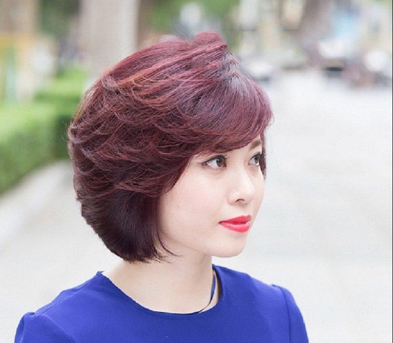 Kiểu tóc ngắn sang trọng cho quý cô tuổi trung niên