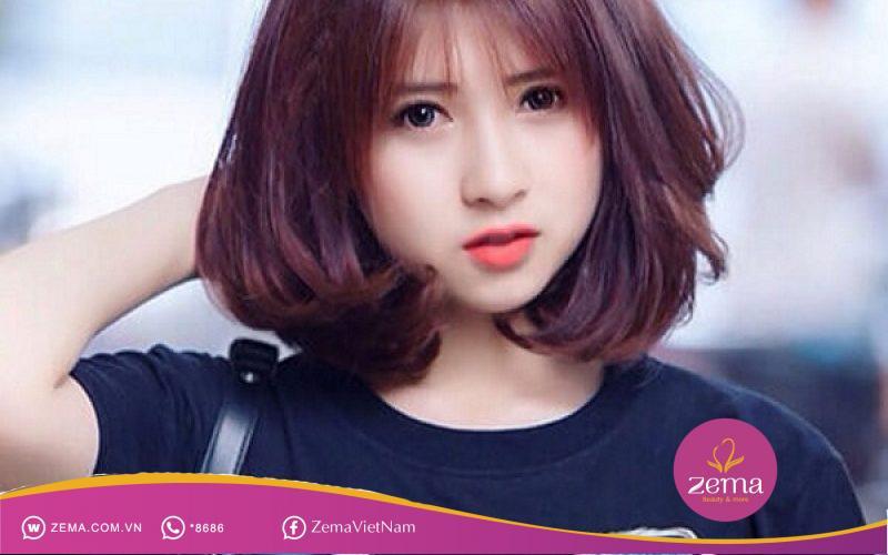 Nàng có thích mẫu tóc ngắn cho mặt tròn như thế này?