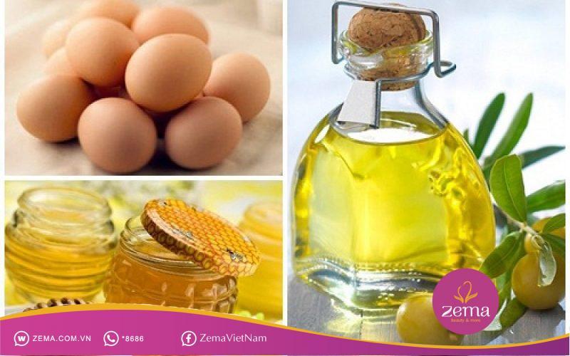 Hỗn hợp lòng trắng trứng và dầu ô liu