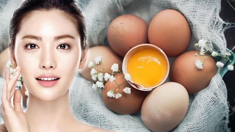Mờ thâm, mịn da, trắng hồng nhờ trứng gà