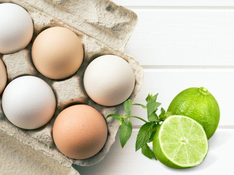 Trứng gà kết hợp chanh để trị nám