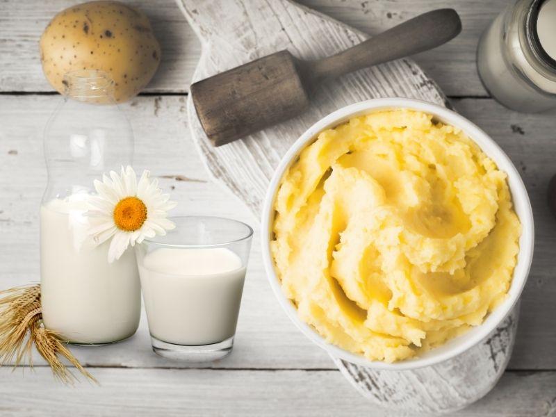 Sự kết hợp hoàn hảo giữa sữa tươi và khoai tây
