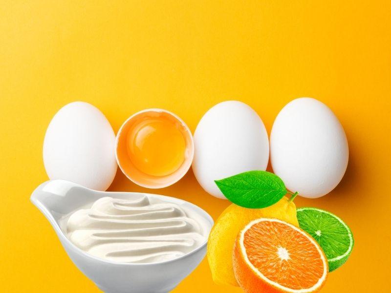 Một sự kết hợp hoàn hảo của trứng, sữa chua và chanh